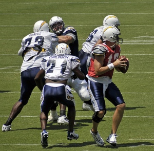 Philip Rivers in Chargers Practice