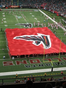Atlanta Falcons banner at Georgia Dome