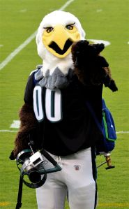 Philadelphia Eagles mascot Swoop