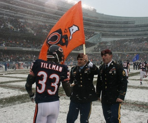 Cedric Tillman at snowy Soldier Field