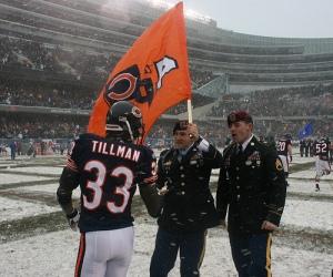 Cedric Tillman at snowy Soldier Field